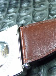 芯材、裏材(カーフ)も防水加工