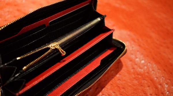 艶黒クロコダイル/オーダーメイドラウンドファスナー長財布