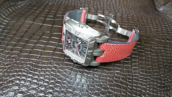 フランクミュラー/コンキスタードル×ガルーシャ/時計本体とベルトが凸凹type  裏生地/ラバー