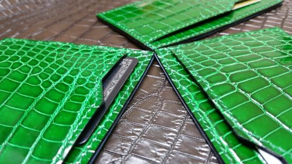 クロコダイルオーダーメイド/超薄型カードケース&超薄型2ツ折財布/FULLBRIDGEdesign
