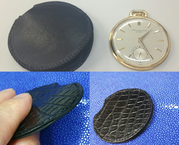 PATEK PHILIPPE (パテック フィリップ)/Pocket Watch懐中時計/カバー/ケース/入れ物/袋物/クロコダイル/オーダーメイド/コバ(切れ目)本磨き仕上げ