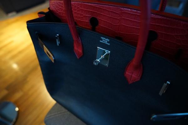 HERMES・BIRKIN ・Veau Epsom・40cm(25cm,30cm,35cm,45cm,50cm,55cm)/エルメス・バーキン・ヴォーエプソン/クロコダイルカスタム×インナーゴートスキンHERMES同メーカー使用/オーダーメイド/オールハンドステッチ(手縫い)