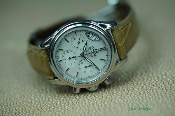 オメガ(OMEGA)シェルフェイス/レディースウォッチ/クロコダイル(お客様が腑・部位を選びました)ストラップ/時計ベルト/オーダーメイド