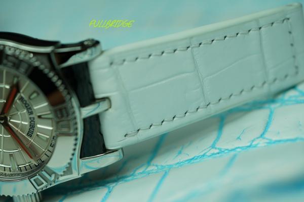 ロジェデュブイ/ストラップ(時計ベルト)/凹加工クロコダイルオーダーメイド(ビスポーク)x純正バックル/裏地クロコダイル/コバ(切り目)本磨き