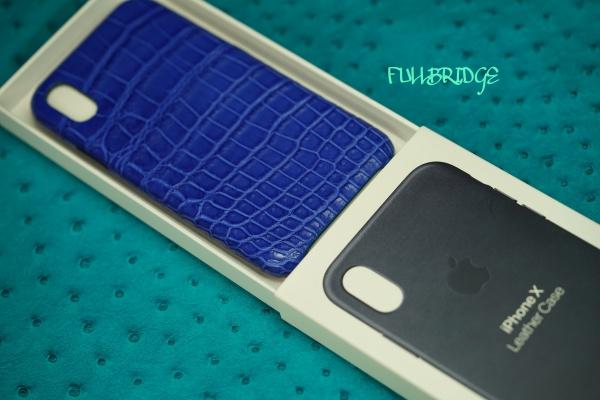 iPhone X cell cover Leather Case apple genuine type/アイフォンエックス・アイフォン10・アップル純正レザーカバー(スマートフォン)/スマホカバークロコダイル・フルオーダーメイド ビスポーク
