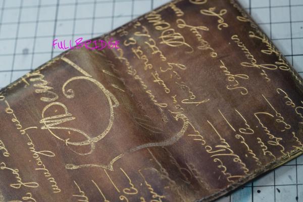 Berluti(ベルルッティ)・Name Card Case/名刺入れ・カリグラフィ・シルバー(プラチナ)パティーヌ・ゴールデン(ゴールド)パティーヌの依頼/パティーヌを施しました。