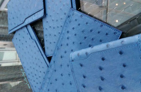 Ostrich Thin Type Wallet Bespoke/オーストリッチ・薄型財布(メイン室・札入れ) x その他1部屋・フルオーダーメイド(ビスポーク)・コバ(切り目)磨き仕上げ