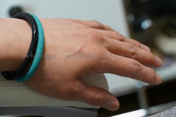 Galushat・Bracelet・Bespoke・ガルーシャ(エイ皮革)スティングレイ・ブレスレット・オーダーメイド(手首に合ったサイズで調整加工製作します)