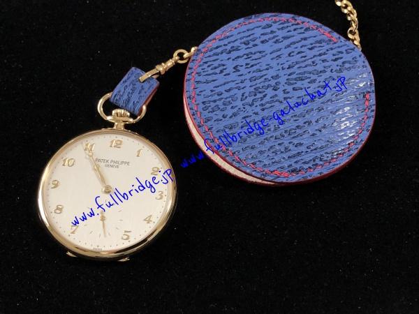 PATEK PHILIPPE Pocket Watch Case Bespoke/パテック・フィリップ.ポケットウォッチ(懐中時計).ケース,入れ物・シャークスキン・ビスポークフルオーダーメイド.ハンドステッチ,手縫い x コバ(切り目)仕上げ・インナーセーム(ゴート・鹿)スキン
