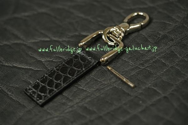 Matte Black Crocodile Bespoke OrderMade keychain /キーホルダー /マットブラッククロコダイル /ビスポーク フルオーダーメイド/コバ(切り目)仕上げ