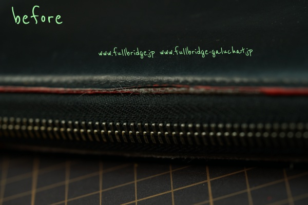 Christian Louboutin Long Wallet Fastener change & edge paint Repair/クリスチャンルブタン ラウンドファスナー長財布・イタリア製フルブリッヂ別注ファスナーに交換&コバ(赤色) リペア&ルブタン純正引手移植