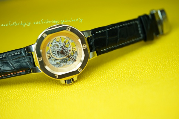 CLERC(swiss made) Bespoke Watch Strap Hand Stitch Crocodile /クレール(スイスメイド.ジュネーブ) . 時計ベルト(ウォッチストラップ) . フルオーダーメイド 黒マットクロコダイル .ハンドステッチ(手縫い) 変形ステッチ延長追加 純正Dバックル移植