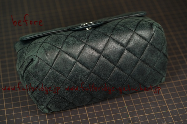 CHANEL Porch Quilted Cow leather BLACK Color ・Cleaning & Color Refresh・Before→After/シャネル キルティングレザー 黒 ポーチ・クリーニング&カラーリフレッシュ・ビフォー→アフター