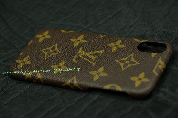 Louis Vuitton.ルイヴィトン/モノグラム柄生地リメイク/iPhoneケースフルオーダーメイド x カスタム x コバ(切り目)仕上げ
