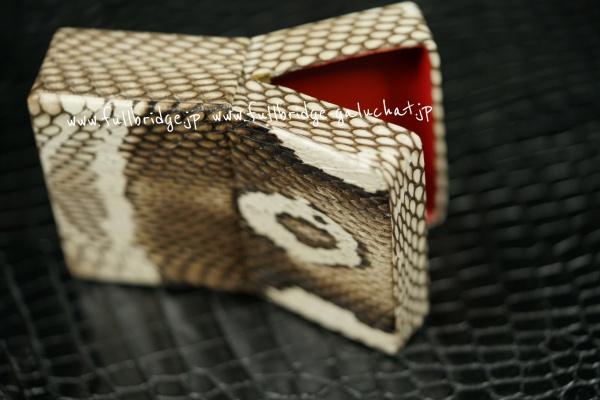 コブラ皮革,シガーケース,フルオーダーメイド,真鍮パーツ(1部修理調整)再利用移植 x 内装赤牛革